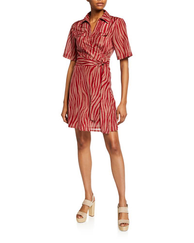 1f4a8a450d Alexa Animal-Print Coverup Wrap Dress Quick Look. Diane von Furstenberg