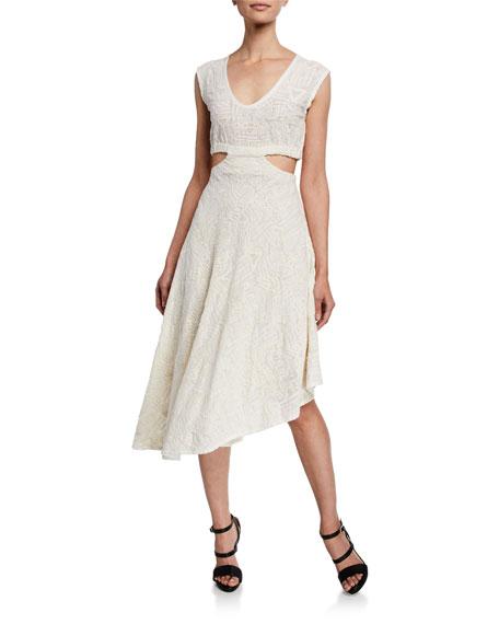 Iro Dresses AFFAIR SLEEVELESS HIGH-LOW CUTOUT DRESS