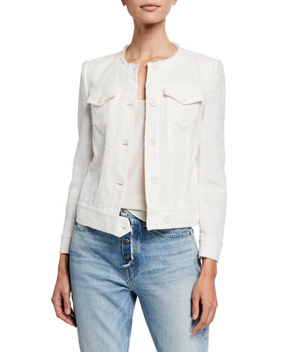 Felicity Collarless Tweed Jacket