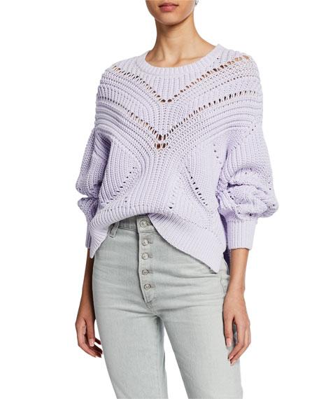 Iro Loaded Knit Crewneck Pullover Sweater