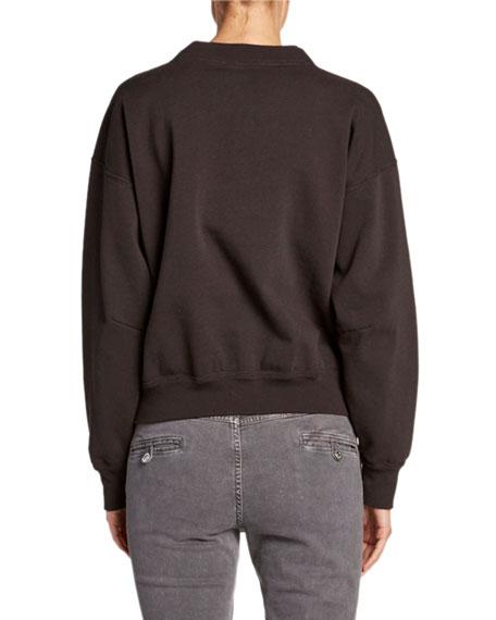 Moby Textured Logo Pullover Sweatshirt