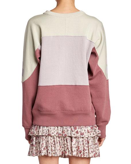 Gallian Colorblock Logo Pullover Sweatshirt