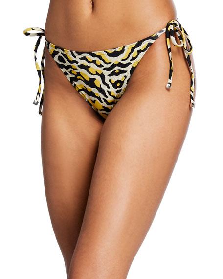 Printed Side-Tie Two-Piece Bikini Set