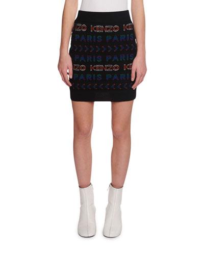 Allover Kenzo Paris Logo Tube Skirt