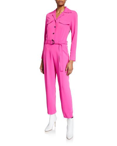 141821f4f Belted Long-Sleeve Jumpsuit Quick Look. Kenzo