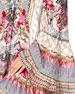 Off-Shoulder A-Line Printed Frill Dress