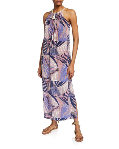 Valerie Sleeveless Coverup Dress with Braided Collar