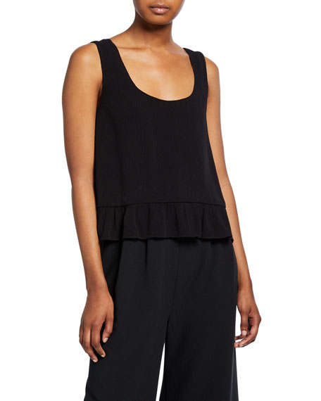 Marquette Scoop-Neck Flounce Top