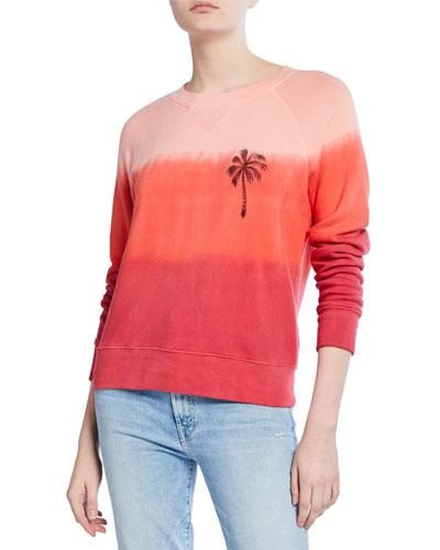 The Square Ombre Raglan-Sleeve Sweatshirt