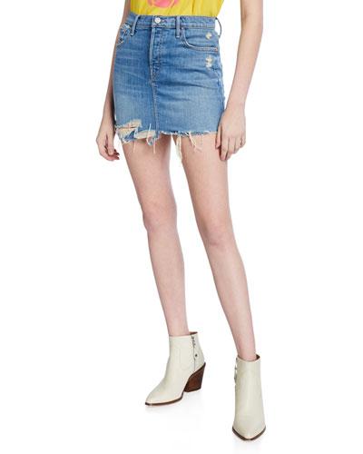 Vagabond Distressed Frayed Mini Skirt