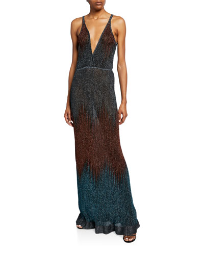 0962944bcda0 Metallic Chevron Sleeveless Long Gown Quick Look. M Missoni