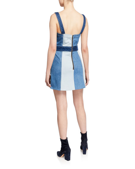 Jamie Denim Mini Dress with Pockets