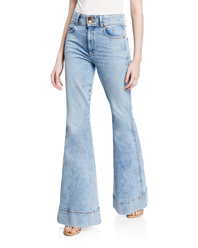 590f6e351d345 Beautiful Ex High-Waist Bell Jeans Quick Look. ALICE + OLIVIA JEANS