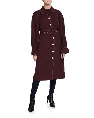 Flo Belted Long Trench Coat