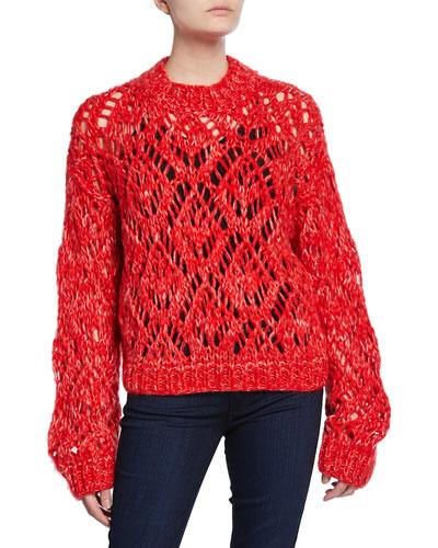 Alex Mohair Crewneck Sweater