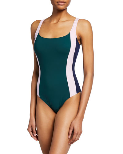 aca5659b4e3c1 Colorblocked One-Piece Swimsuit Quick Look. Tory Burch