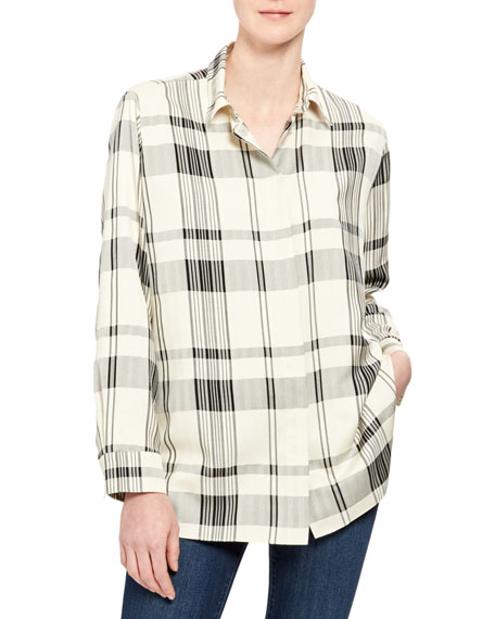 Classic Check Menswear Button-Down Shirt