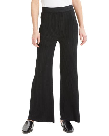 Ribbed Wide-Leg Lounge Pants