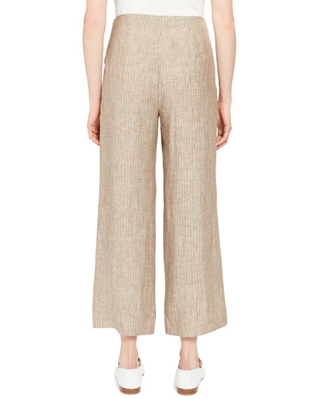 Clean Cropped Linen Pants