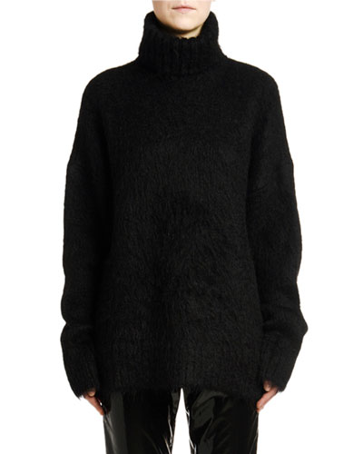 Oversized Mohair Turtleneck Sweater
