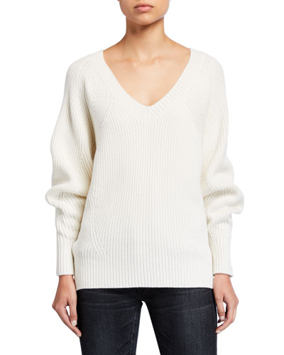 V-Neck Wool Pullover Sweater