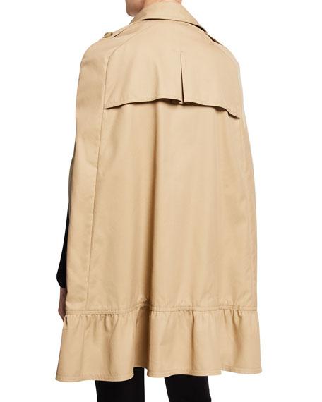Gabardine Cape Trench Coat