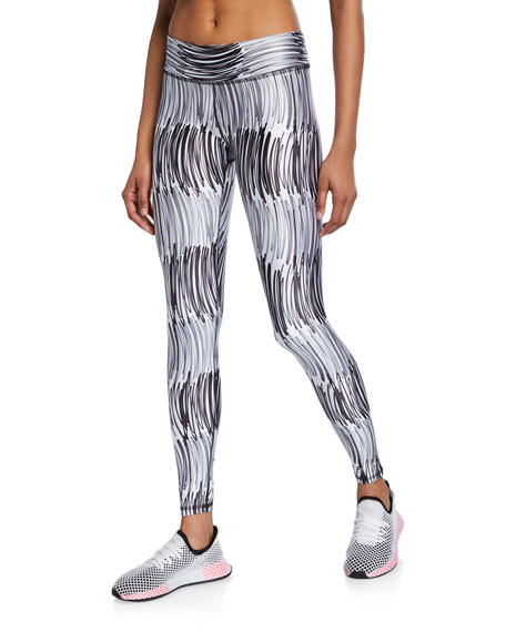 Abstract Printed Tall Band Leggings