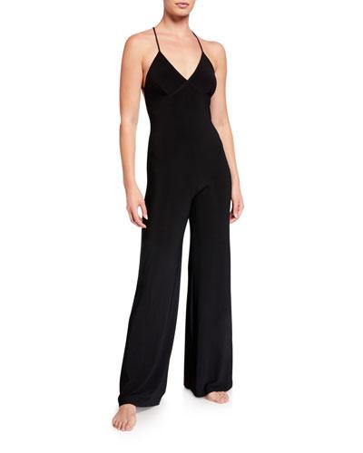 Low-Back Slip Jumpsuit