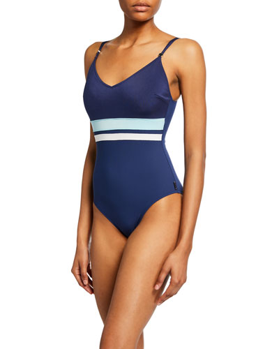 Napoli Striped One-Piece Swimsuit