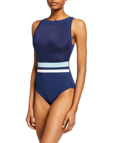 Napoli High-Neck One-Piece Swimsuit