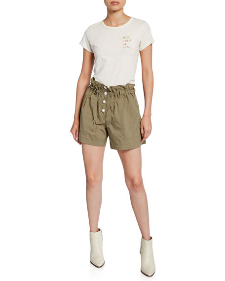 Glenn Paperbag Button-Fly Cargo Shorts