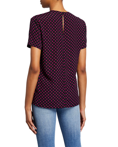 Stampa Fondo Polka Dot Short-Sleeve Shirt