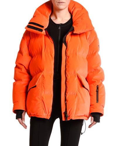 Oversized Flap-Pocket Puffer Coat