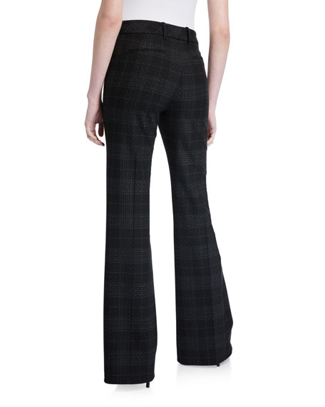 Anna Plaid Flare Pants