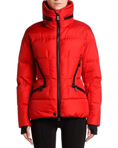 Stand-Collar Puffer Coat w/ Tucked Hood