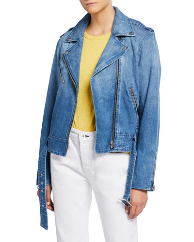 Abbey Denim Moto Jacket