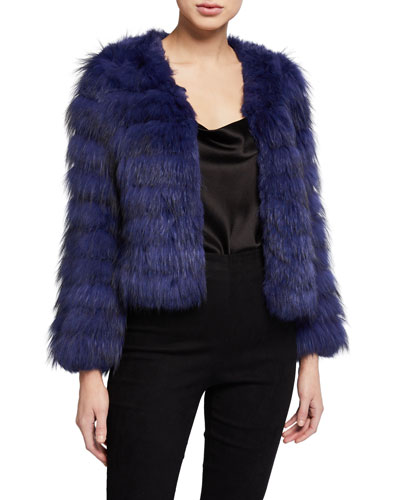 Fawn Cropped Fur Jacket