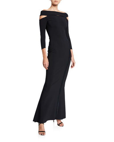 b154e980 Off-the-Shoulder 3/4-Sleeve Dress with Cutouts Quick Look. Chiara Boni La  Petite Robe