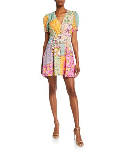 Lea Printed Mini Dress
