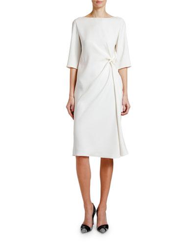 Knotted Techno Cady 1/2-Sleeve Dress