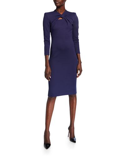 eb70836aca6e8 Milano Jersey Knotted-Neck Bodycon Dress Quick Look. Giorgio Armani