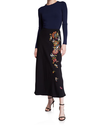 Marta Crepe Tulip Skirt