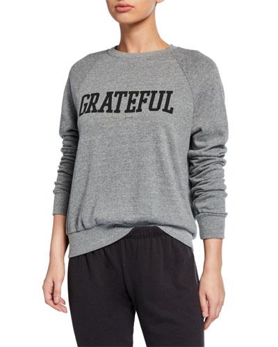 Grateful Old School Raglan-Sleeve Sweatshirt
