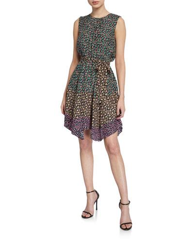 Louisa Sleeveless Floral-Print Dress