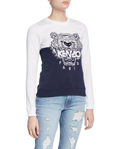 Tiger Logo Colorblock Sweatshirt