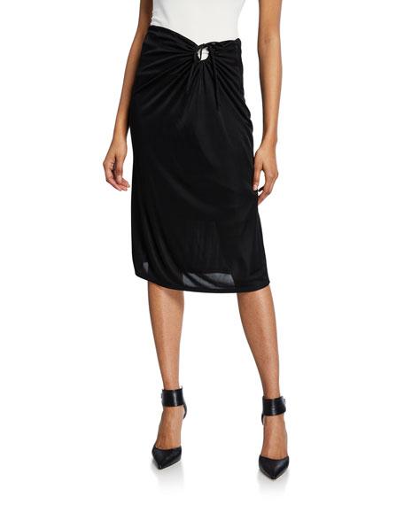 Knee-Length Keyhole Skirt