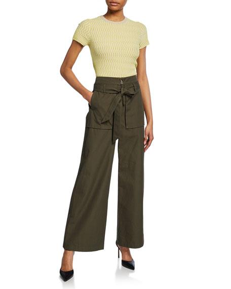 Wide-Leg Cargo Pants