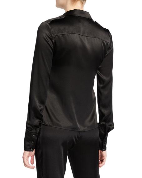 Montrose Silk Button-Front Top