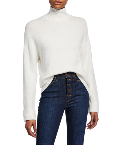 Felix Oversized Roll-Cuff Turtleneck Sweater