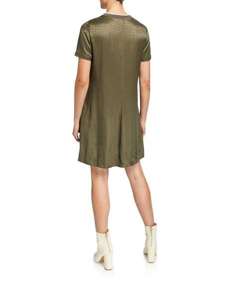 Ali Houndstooth T-Shirt Dress